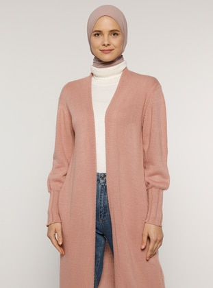 Pink - Acrylic - - Cardigan