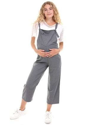 Smoke - - Sweatheart Neckline - Maternity Pants