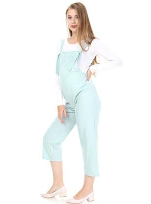 Mint - - Sweatheart Neckline - Maternity Pants