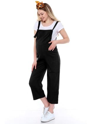 Black - - Sweatheart Neckline - Maternity Pants - Luvmabelly
