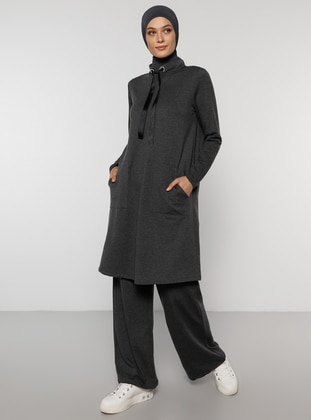 Anthracite -  - Polo neck - Tracksuit Set