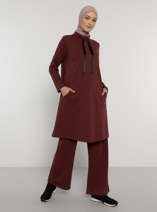 Plum - Polo neck - Tracksuit Set
