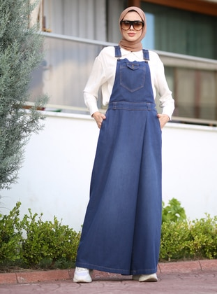 Denim -  - Blue - Overalls