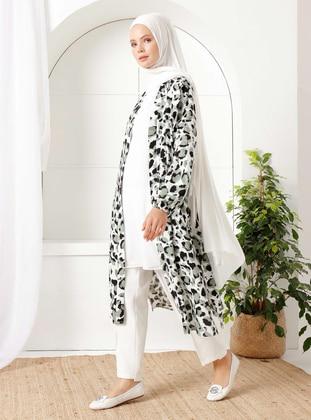 Khaki - Leopard - Unlined - Shawl Collar - - Topcoat