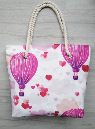Satchel - Canvas - Pink - Beach Bags