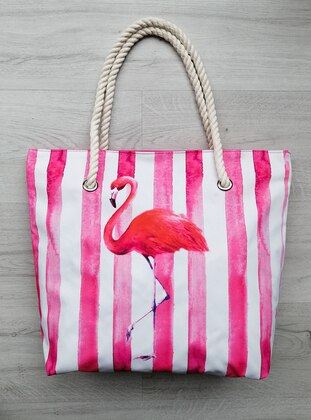 Satchel - Waterproof - Pink - Beach Bags - Ago Çanta