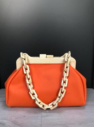 Orange - Satchel - Clutch Bags / Handbags