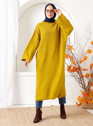 Mustard - Crew neck - Knit Tunics