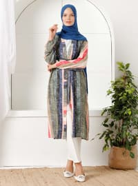 Khaki - Salmon - Stripe - Unlined - Shawl Collar -  - Topcoat