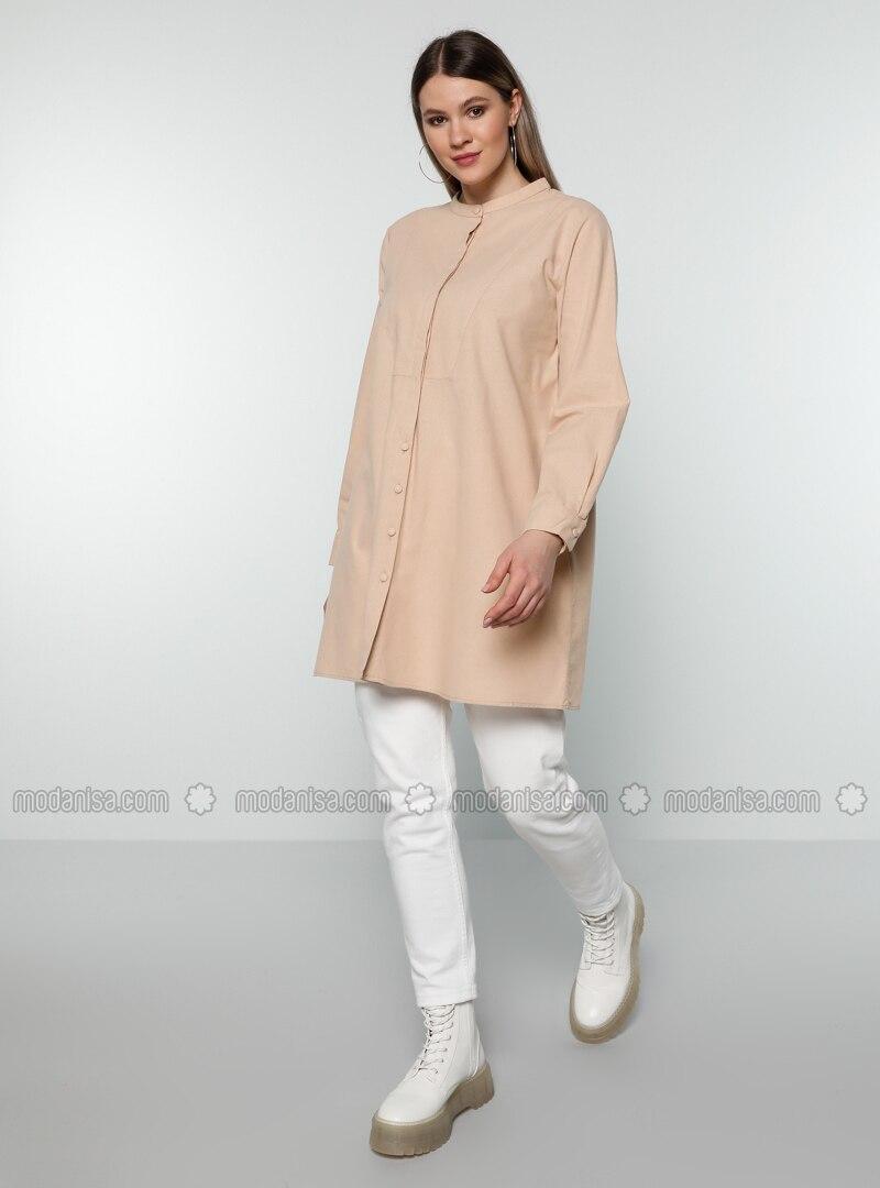 Mink - Crew neck - - Plus Size Tunic