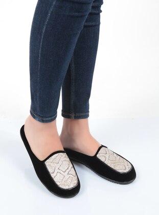 Sandal - Gold - Black - Home Shoes