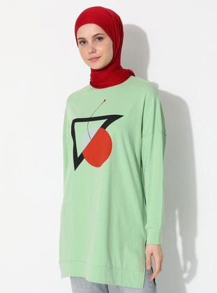 - Crew neck - Green - Sweat-shirt