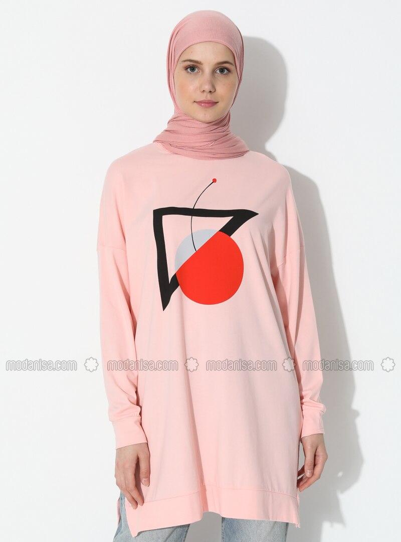 - Crew neck - Pink - Sweat-shirt