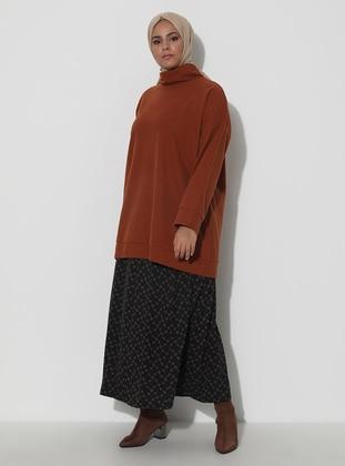 Brown - Multi - Unlined - Viscose - Skirt