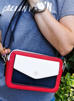 White - Red - Satchel - Shoulder Bags