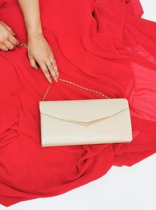 Nude - Satchel - Clutch - Clutch Bags / Handbags