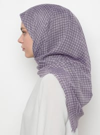 Lilac - Purple - Printed - Scarf