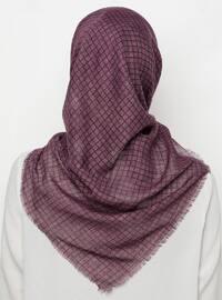 Purple - Black - Printed - Scarf
