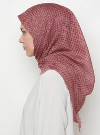 Pink - Powder - Printed - Scarf