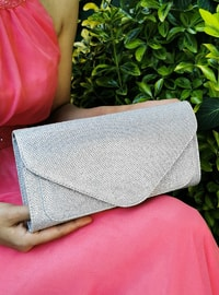 Silver tone - Satchel - Clutch - Clutch Bags / Handbags