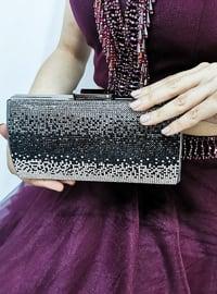 Silver - Satchel - Clutch - Clutch Bags / Handbags