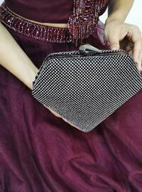 Silver tone - Black - Satchel - Clutch - Clutch Bags / Handbags