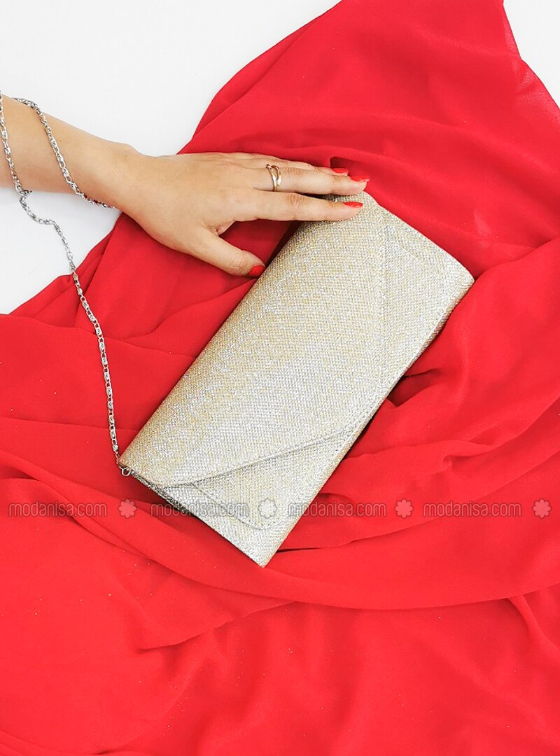 Gold - Satchel - Clutch - Clutch Bags / Handbags