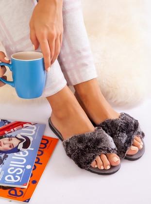 Sandal - Smoke - Home Shoes - Ayakkabı Havuzu