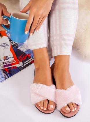 Sandal - Powder - Home Shoes - Ayakkabı Havuzu