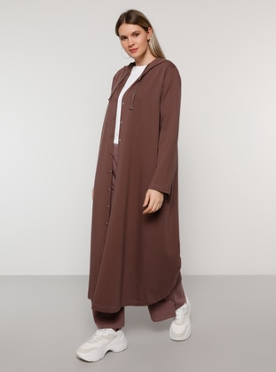 Purple - Unlined - Plus Size Coat