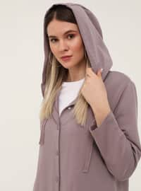 Lilac - Unlined - Plus Size Coat
