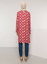 Dusty Rose - Polka Dot - Crew neck - Viscose - Tunic