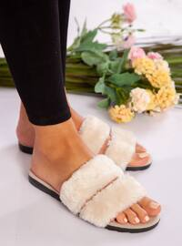 Sandal - Cream - Home Shoes
