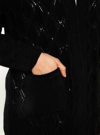 Black - Acrylic -  - Cardigan