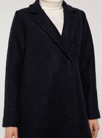 Navy Blue - Fully Lined - Shawl Collar - Coat