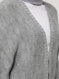 Silver tone - Acrylic - - Cardigan