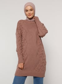 Dusty Rose - Pink - Rose - Crew neck - Unlined - Knit Tunics