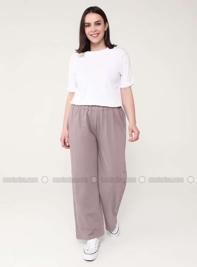 Lilac -  - Plus Size Pants