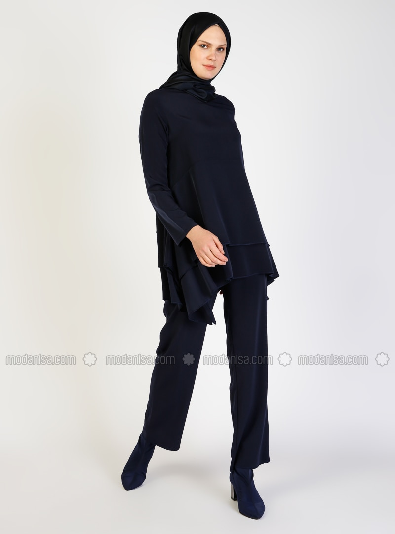 Navy Blue - Crepe - Suit