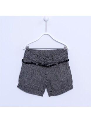 Black - Girls` Shorts - Silversun