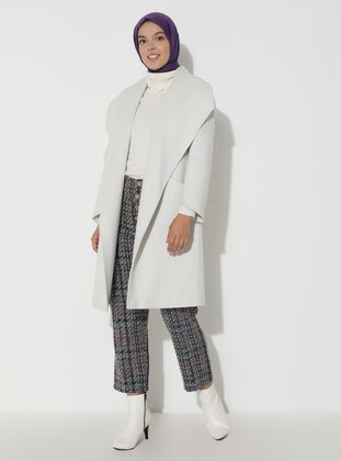 Limited Edition Wool and Cashmere Blend Coat - Stone