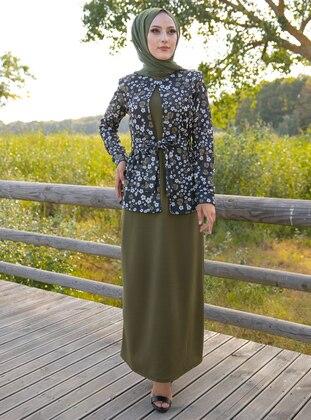 Khaki - Multi - Unlined - Suit