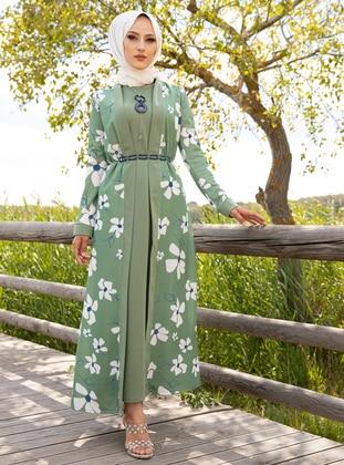 Mint - Floral - Suit