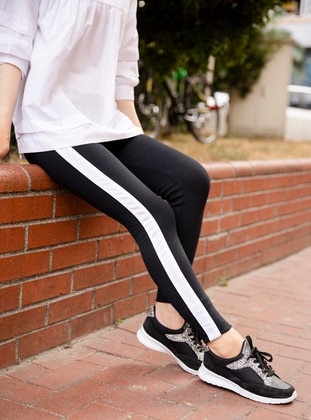 White - Black - Pants