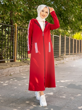Maroon - Unlined -  - Topcoat