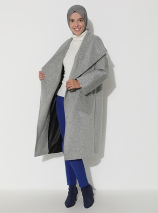 Limited Edition Wool and Cashmere Blend Coat - Gray