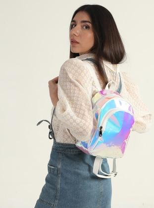 Silver tone - Metallic - Backpack - Backpacks