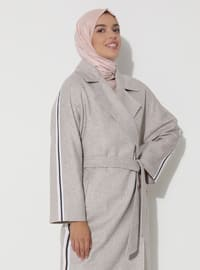 Limited Edition Wool and Cashmere Blend Coat - Beige