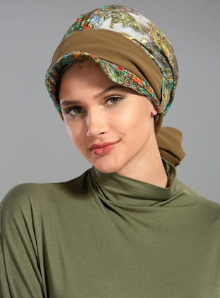 Khaki - Multi - Plain - Simple -  - Bonnet