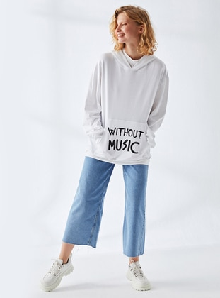 - Ecru - Sweat-shirt